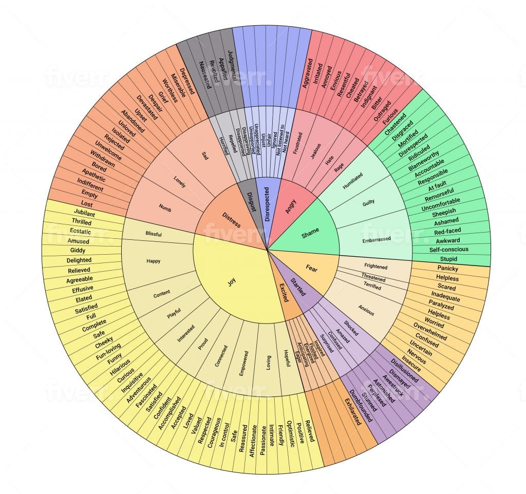 wheel of emotions created from affect
